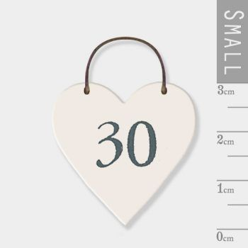 East Of India - mini heart token - 30