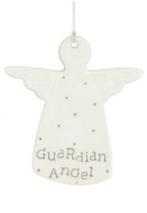 Gisela Graham - Cream Ceramic Guardian Angel