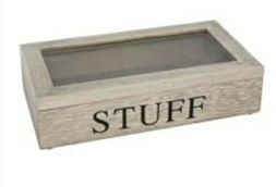 Gisela Graham - Natural Wood  'STUFF' Storage Box