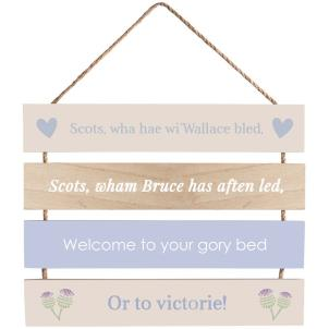 Transomnia - Scottish Wallace Slatted Sign